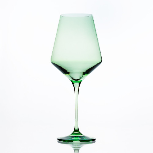 Mint Stemmed Wine Glasses (Set of 6) by Estelle Colored Glass