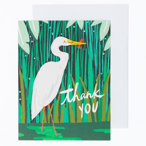 Egret Thank You Card by Idlewild Co.