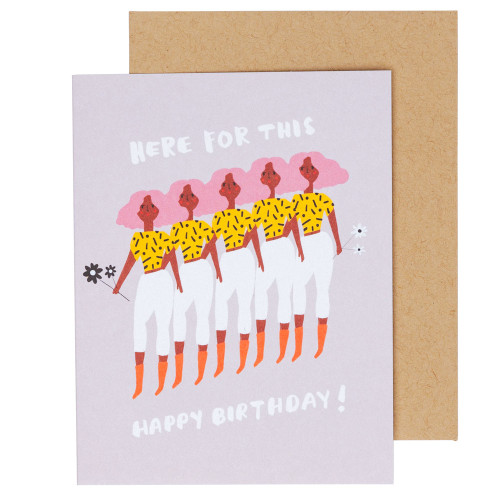 Here for This Birthday Card by Carolyn Suzuki