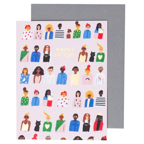 Friends and Family Birthday Card by Carolyn Suzuki