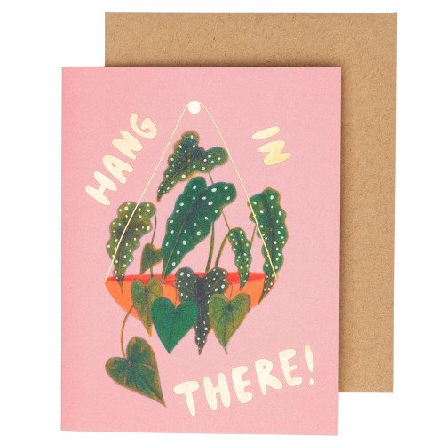 Hang in There Begonia Card by Carolyn Suzuki
