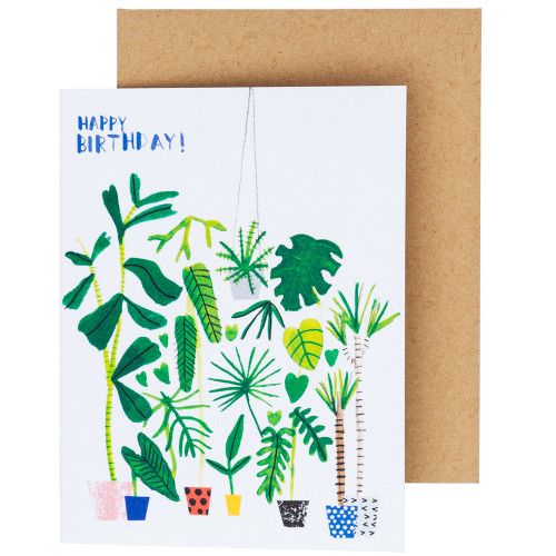 Garden Birthday Card by Carolyn Suzuki