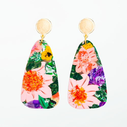Garden Floral Minnie Earrings by BR Design Co