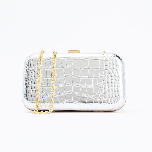 Silver Rose Clutch by F&W Style
