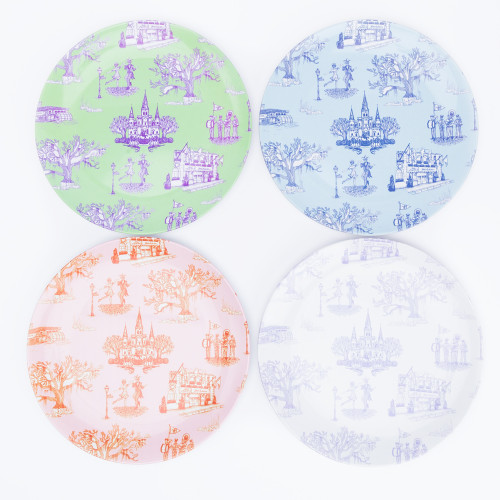 New Orleans Toile Dinner Plates by Katie Kime
