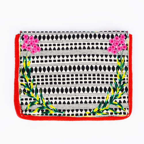 Red Holi Clutch by Ethnique