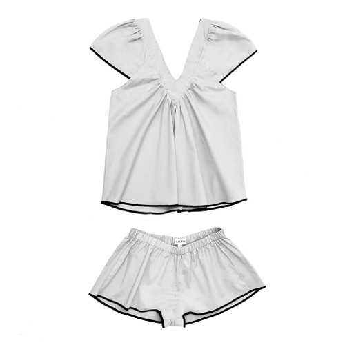 White Bianca Pajama Set  by Campo Collection