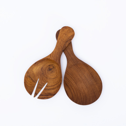 Round Teak Serving Set by Be Home