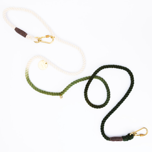 Olive Ombre Dog Leash by Found My Animal