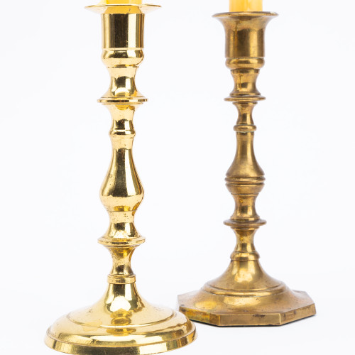 Vintage Brass Candlesticks by Fieldshop