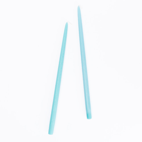 Aquamarine Tapered Candles (set of 2) by Creative Candles