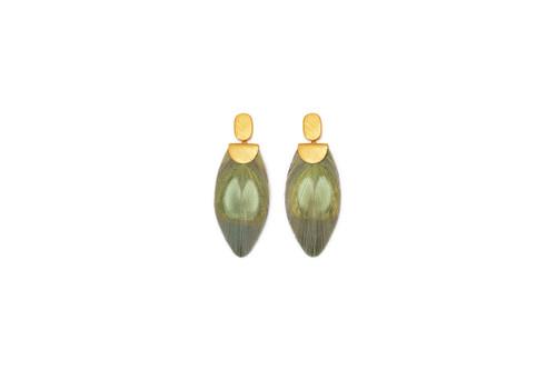 Little Lime Drop Earrings by Brackish
