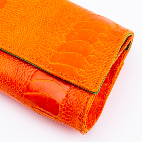 Tangerine Jeweled Crusted Bee Eater Clutch by Norton and Hodges
