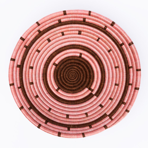 Wine & Pink Spotted Bowl by Amsha