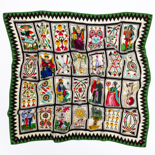 Antique French Playing Card Scarf by Carson & Co