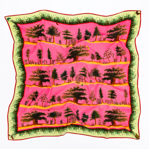 Pink Tifton Trees Scarf by Carson & Co.