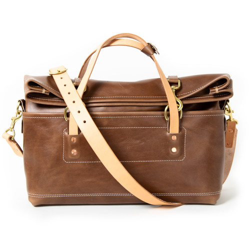 The Overnight Duffle with Natural Strap by Iron Rivet