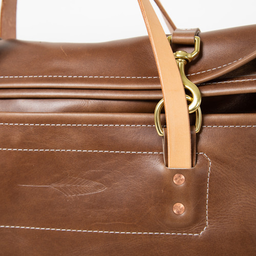 The Overnight Duffel with Natural Strap by Iron Rivet