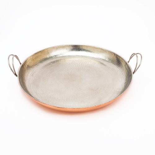 """Alicante 18"""" Paella Pan by Sertodo Copper"""