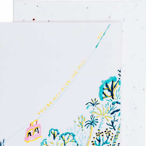 Over the Hill Birthday Card by Seedlings