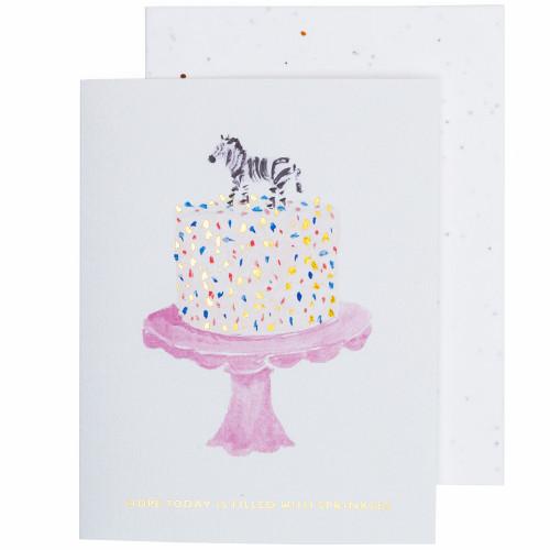 Birthday Cake Card by Seedlings