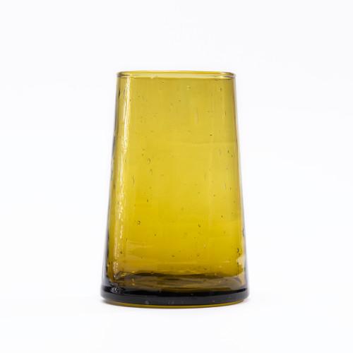 Moroccan Cone Amber Glassware (Set of 6) by Verve Culture