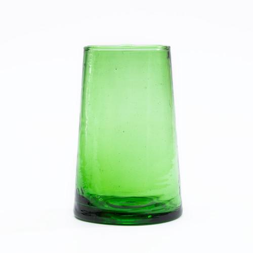 Moroccan Cone Green Glassware (Set of 6) by Verve Culture