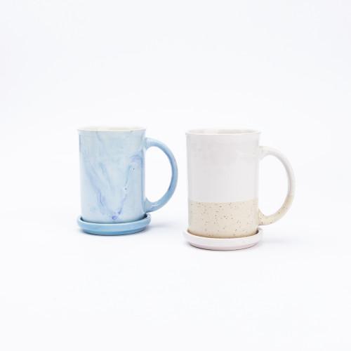 Blue Sky Coffee + Tea Mug with Steeping Cover by Anaya