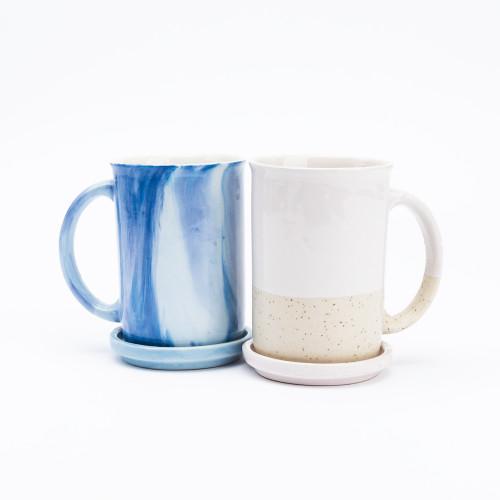 Speckled Coffee + Tea Mug with Steeping Cover by Anaya