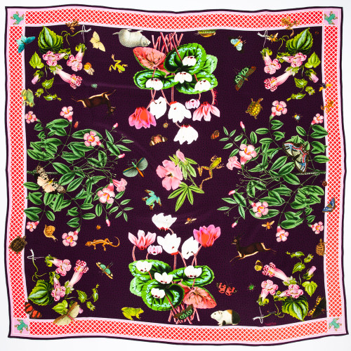 Trumpet Flower Scarf in Purple by Carson & Co.