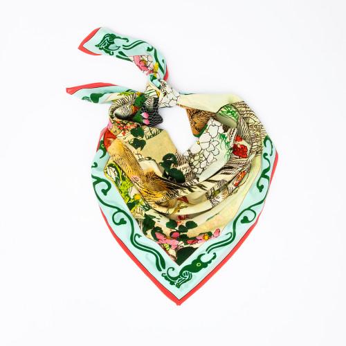 Chicken Little Scarf in Aqua by Carson & Co.