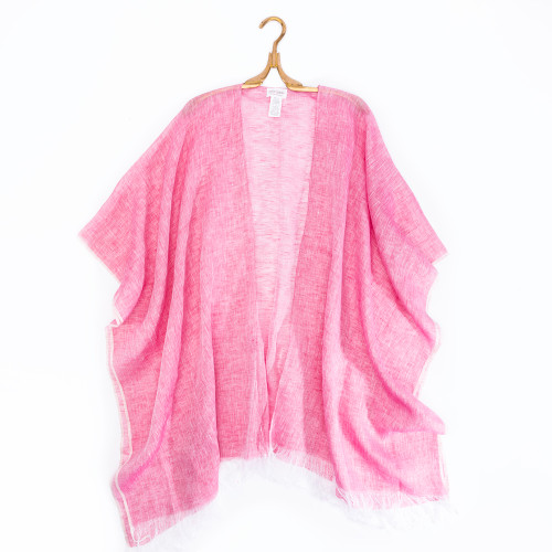 Linen Wrap in Pink by Mer-Sea