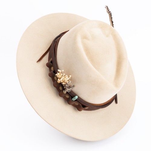 Cream Hat by ThunderVoice Hat Co.