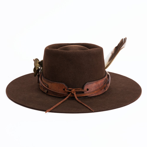 Chocolate Hat by ThunderVoice Hat Co.