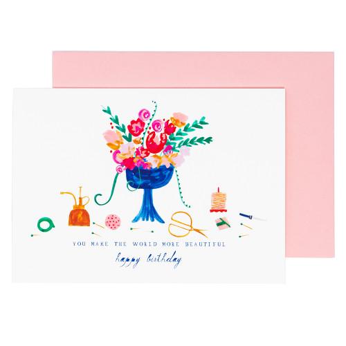 The Florist Called Birthday Card by Mr. Boddington's Studio
