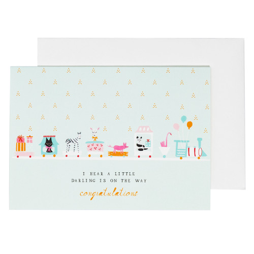 Choo Choo Train New Baby Card by Mr. Boddington's Studio