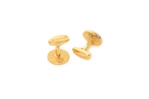 Fripp Cufflinks in Gold by Brackish