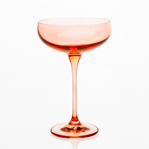 Champagne Coupes in Blush (set of 6) by Estelle Colored Glass