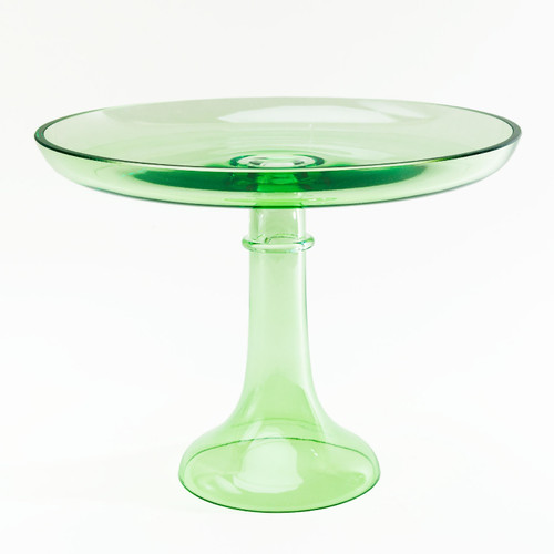 Cake Stand in Mint by Estelle Colored Glass