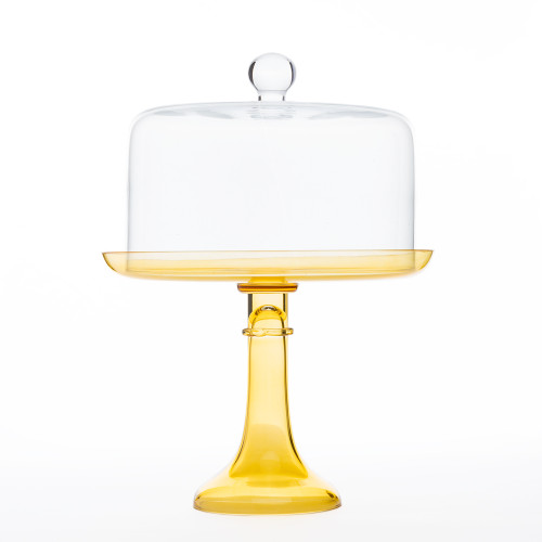 Cake Stand in Yellow by Estelle Colored Glass