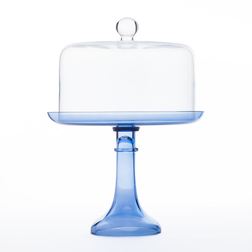 Cake Stand in Cobalt by Estelle Colored Glass