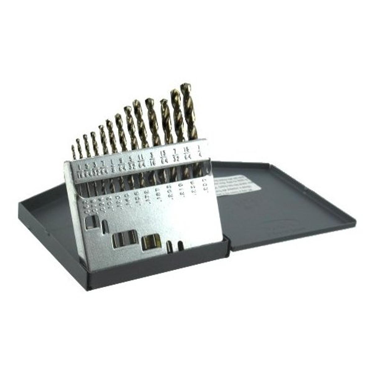 Cobalt Drill Bit Set >> 1 16 To 1 4 High Speed Cobalt Drill Bit Set Greschlers Hardware