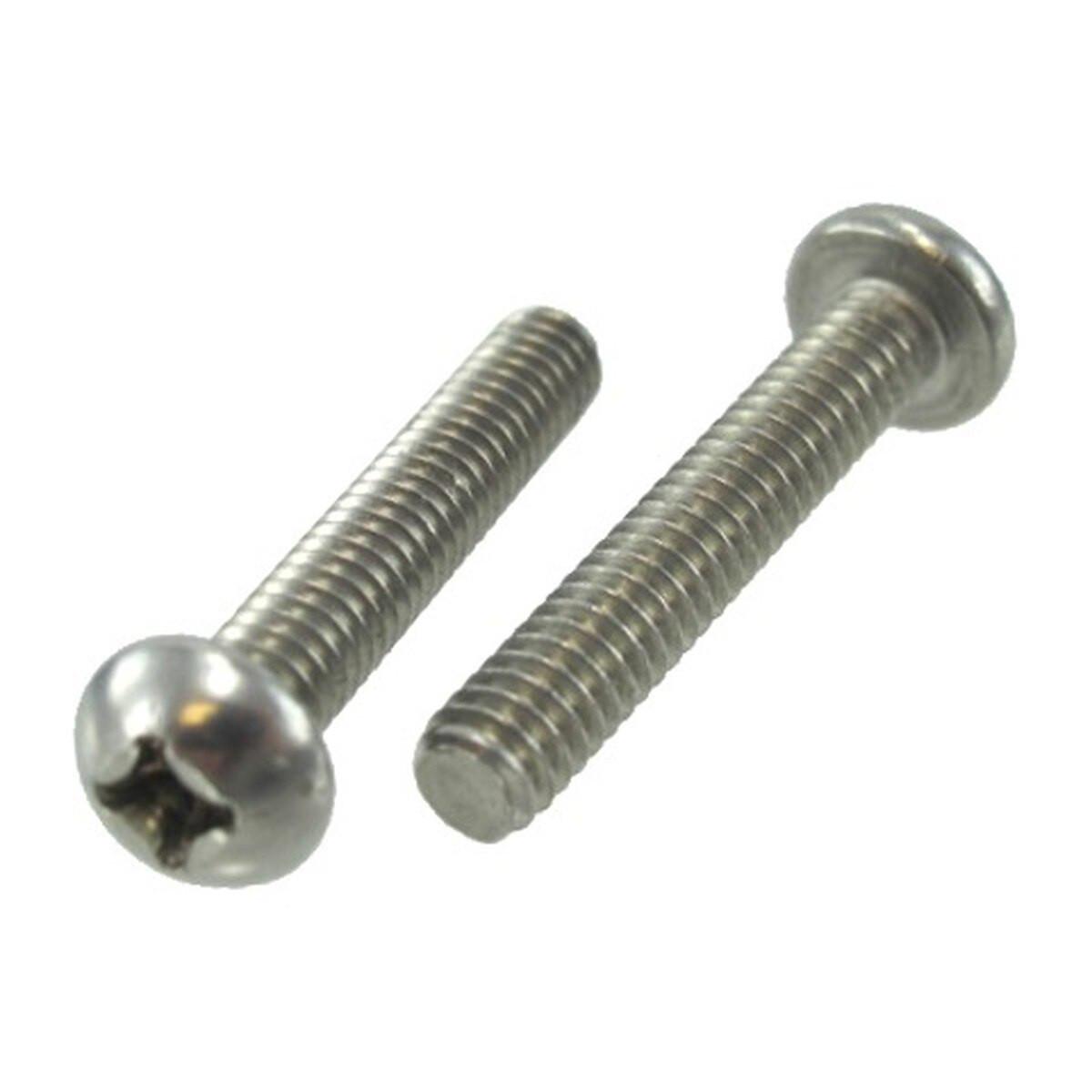 1//4-20 x 2-1//2 Round Head Phillips Machine Screw 100 pk.