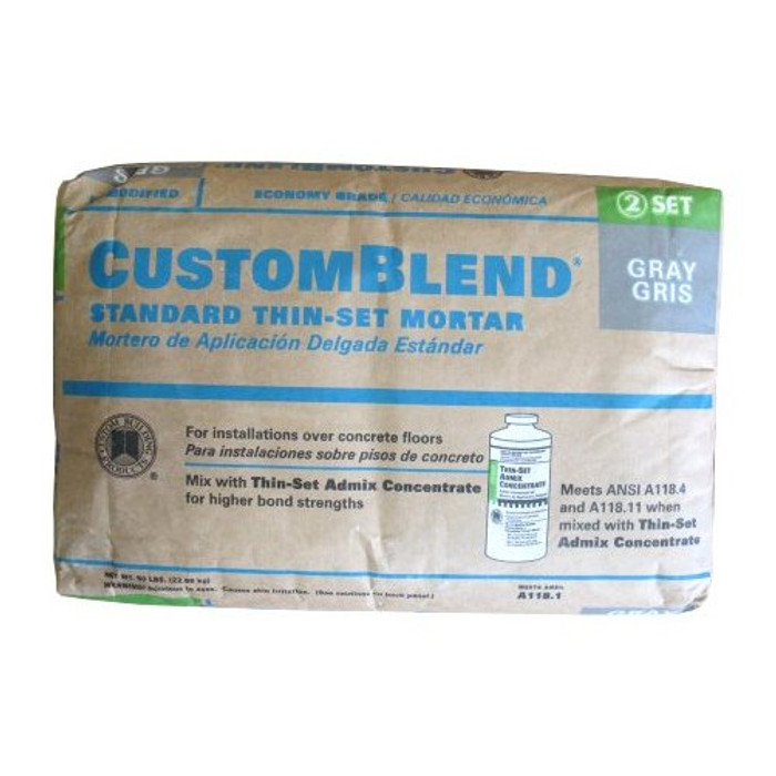 50 lb. Gray Standard Thin Set Mortar - (Available For Local Pick Up Only)