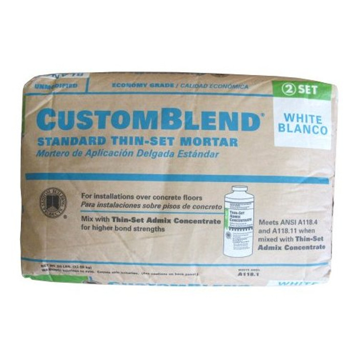 50 lb. White Standard Thin Set Mortar - (Available For Local Pick Up Only)