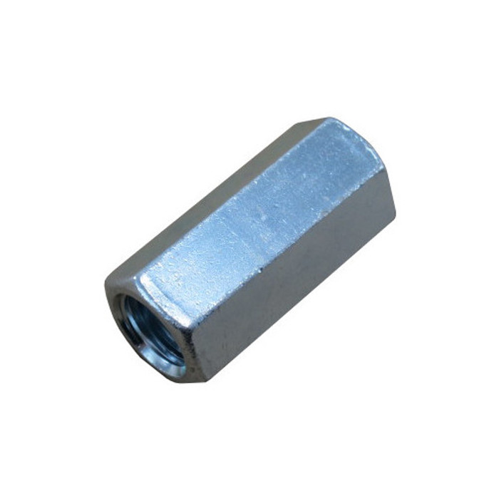 """1-1/8""""-7 Zinc Plated Threaded Rod Coupling"""