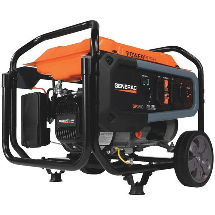 Generac 3,600 Watt Gasoline Powered Portable Generator - (Available For Local Pick Up Only)