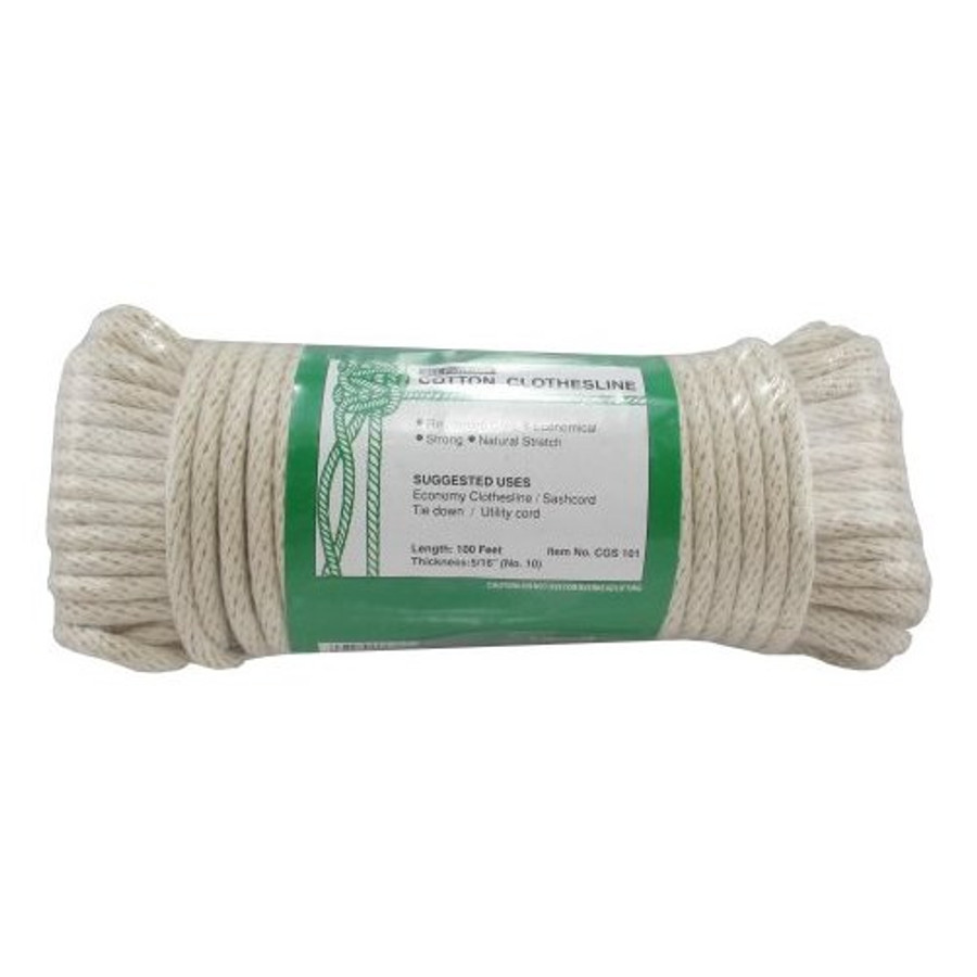 10 5 16 X 100 Reinforced Core Braided Cotton Clothesline