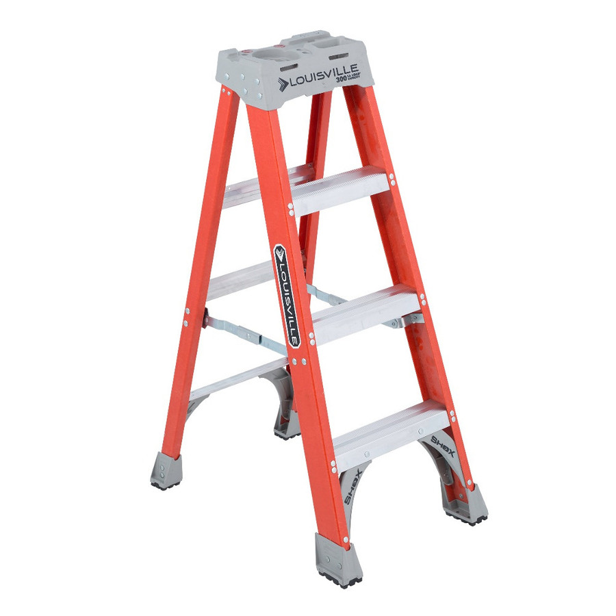 4' Fiberglass Step Ladder (Type 1A - 300 lb. Test) - (Available For Local Pick Up Only)