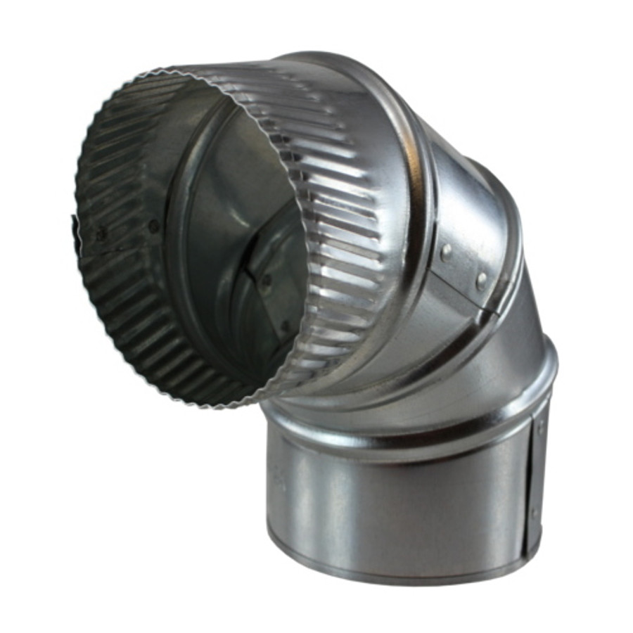"""4"""" Galvanized Stove Pipe Adjustable Elbow (26 Gauge) - (Available For Local Pick Up Only)"""